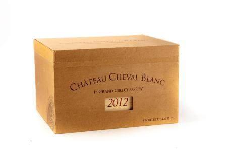 6 B CHATEAU CHEVAL-BLANC (Caisse Bois) 1er GCCA Saint Emilion 2012