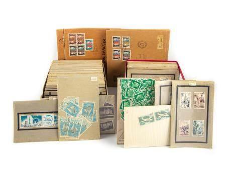 Ensemble de timbres oblitérés ( deux cartons )On joint des enveloppes de timbres oblitérés