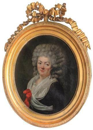ÉCOLE FRANCAISE du XVIIIe, entourage d'Antoine VESTIERPortrait présumé de Melle Rose BertinHuil