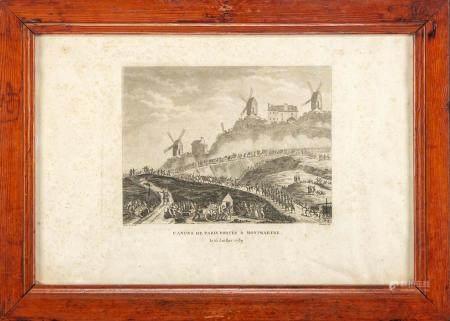 Suite de trois gravures à sujet historiquesEncadrées