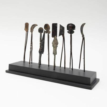 Set of Eleven Roman Bronze Surgical Instruments