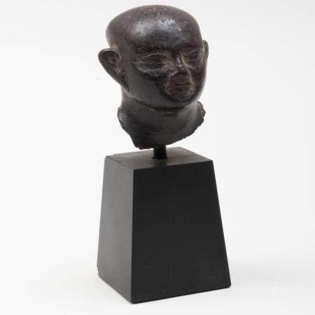 Egyptian Basalt Head of a Man
