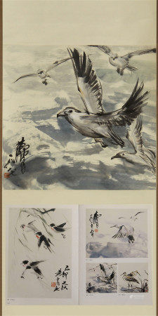 CHINESE PAINTING OF BIRDS BY HUANG ZHOU