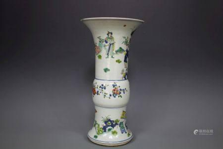 A Famille Porcelain Goblet, Qing Style