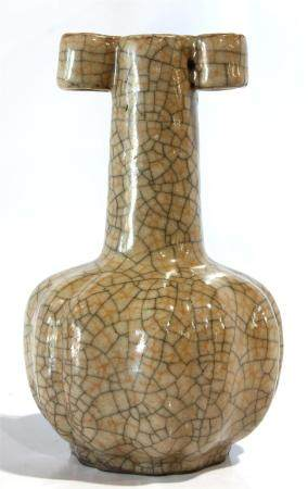 Chinese Ge-type vase, the globular body rising to a tapering