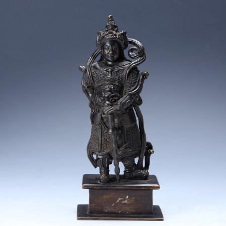 宋 铜韦陀立像
