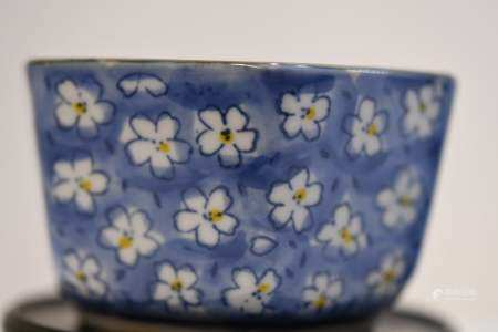 Blue and White Hexagonal Porcelain Bowl