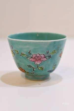 Torquise Enamel Glaze Bowl
