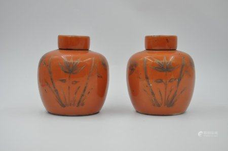 A pair of tea pots in Qing Dynasty