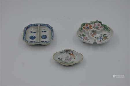 Three small dishes