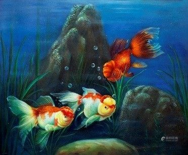 Oil Painting - Fish - Local Artist