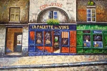 Oil Painting - Building  - Montreal Artist
