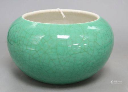 A 19th century Chinese green crackleglaze bowl, height 13cmCONDITION: heavy crazing throughout, some