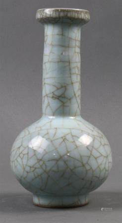 Chinee Guan Style Crackle Bottle Vase