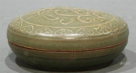 Song style celadon paste box