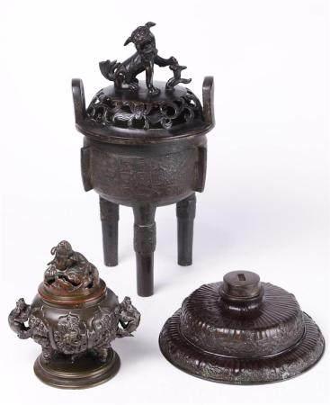 (lot of 3) Japanese Bronze Censers