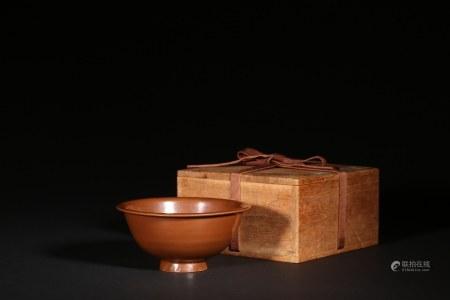 耀州窯醬釉碗