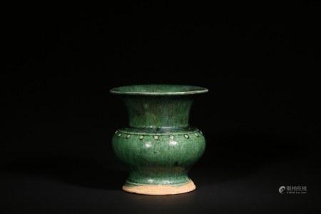 遼-金 綠釉尊