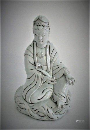 Chinese Porcelain Kwan Yin Signed FR3SH