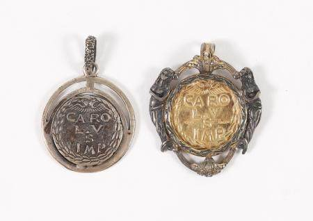 Two Italian Coins Mounted as Pendants, G Jacco  FJS1