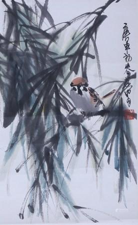 黄胄 麻雀