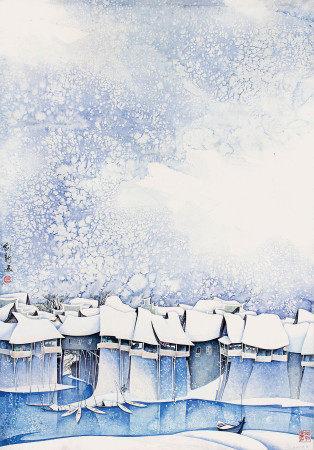 曹劍新  邊城瑞雪