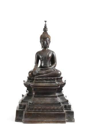Bouddha,  Laos Bouddha assis en Bhumisparsha Mudra, prise de terre à témoin contre les tentatio