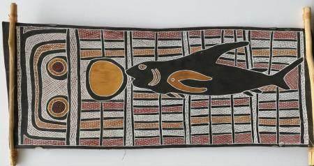 Wundunu  Mana – requin ancêtre du clan Djapu / Mana – Ancestral Shark for Djapu Clan  Le motif