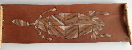 David Murruwarda (Kunwinjku)  Tortue à long cou /Long-Necked Turtle, 1994  La tortue au long co