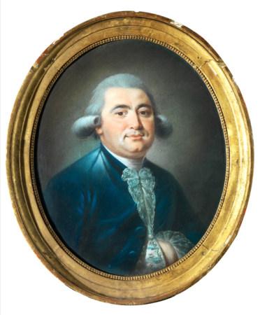 École française de la fin du XVIIIe siècle Portrait d'homme à la veste bleue [...]