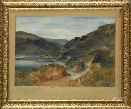 Bernard Walter EVANS (Wolverhampton, 1848 - Londres,1922 ) Vue du chemin de fer près [...]