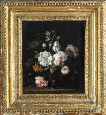 Jean Baptiste MONNOYER (Lille, 1636 - Londres, 1699), attribué à Bouquet de roses [...]