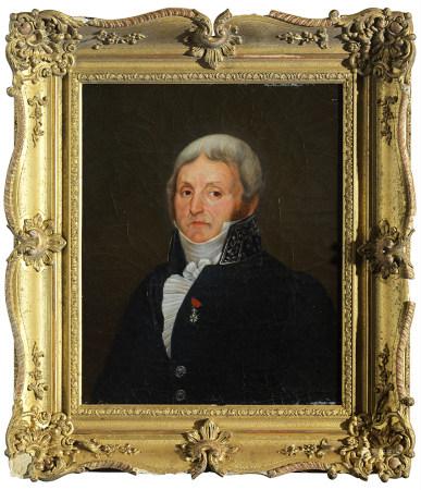 Auguste François LABY (1784 - 1860) Portraits d'hommes Paire d'huiles sur toile, [...]
