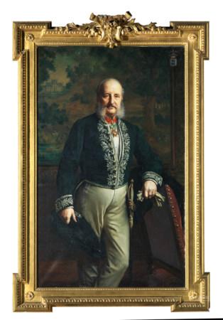 Felix François GENAILLE (1826 - 1880 ) Portraits de Monsieur et Madame Marcel [...]