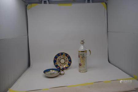 Assorted Chinese and other ceramics, some damages (box)