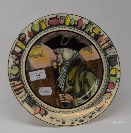 A Royal Doulton series ware plate, The Doctor, D6281, 26.5 cm diameter