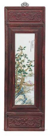 POLYCHROME PORCELAIN PANEL ATTRIBUTED TO WANG YETING, 1927