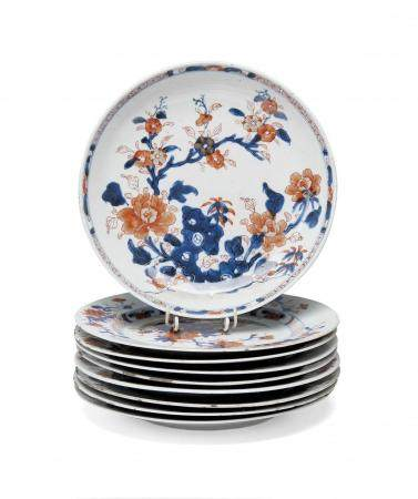 NINE IMARI PORCELAIN DISHES CHINA, QING DYNASTY, EARLY 18TH
