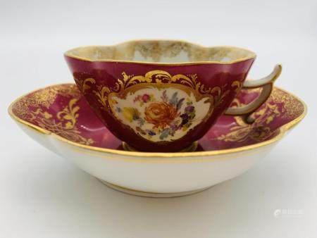 Antique Meissen Cup and Saucer Set