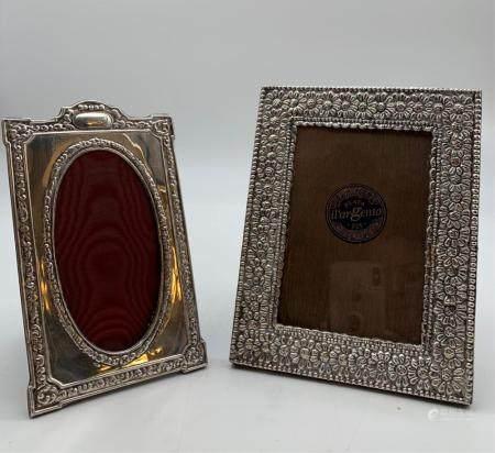 2 Designer Sterling Picture Frames