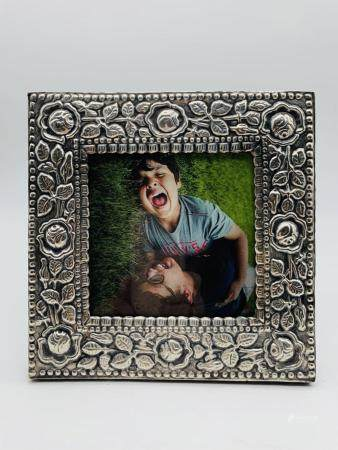 Sterling Silver and Wood Picture Frame