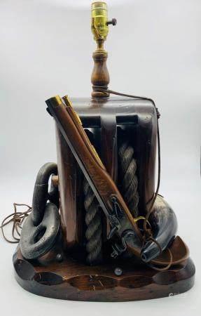 Vintage Americana Naval Lamp