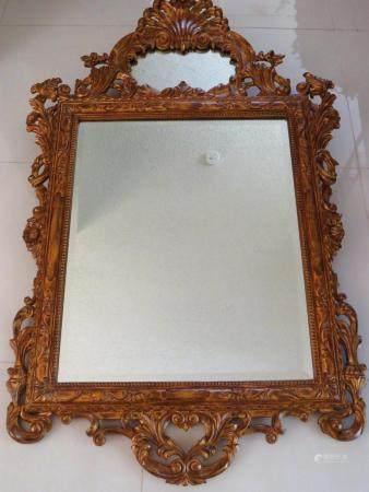 Theodore Alexander Carved Gilt Wood Mirror
