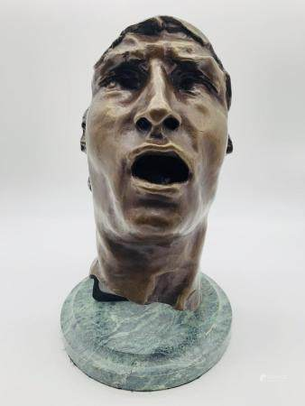 """After Rodin Bronze """"Mask Of Sorrow"""""""