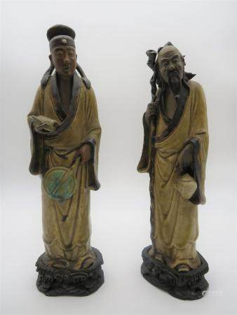 Pr Antique Chinese Shiwan Figures