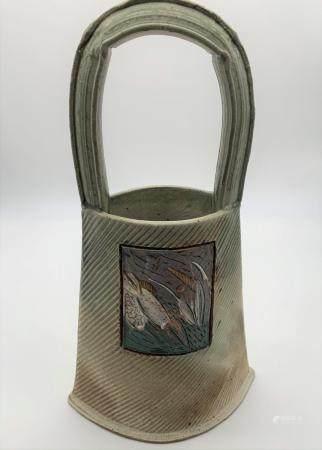 Studio Art Pottery Handbag Vase