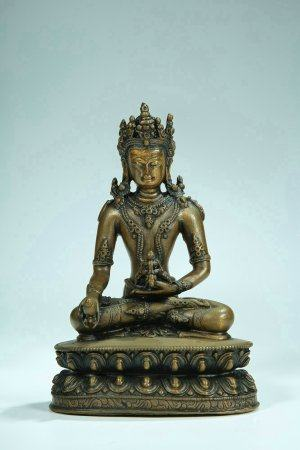 A Chinese Gilt-Lacquered Bronze Figure Of Buddha
