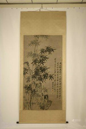 A Chinese Painting Of Ink Bamboo By Zheng Banqiao
