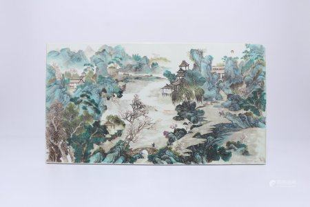 A Chinese Famille-Rose Porcelain Plaque,Qing Dynasty