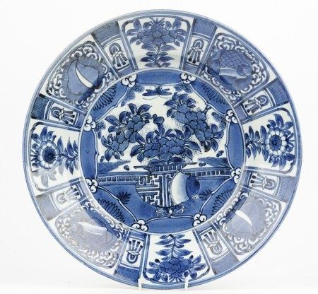 A Japanese Arita blue and white dish, late 17th/18th century or possibly later,